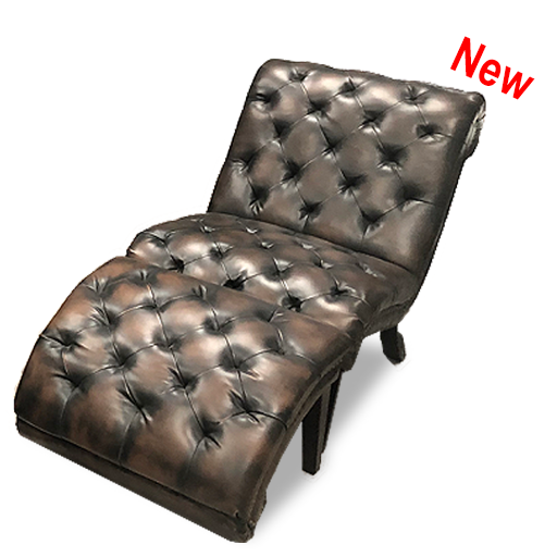 Alessio Leather Chaise