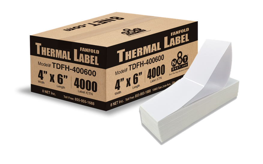 Fanfolded - Thermal Labels - Direct - Shipping Supplies