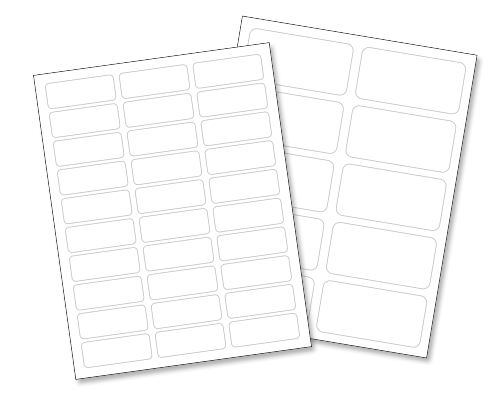 "Laser Labels - 8½ x 11"" Sheet"
