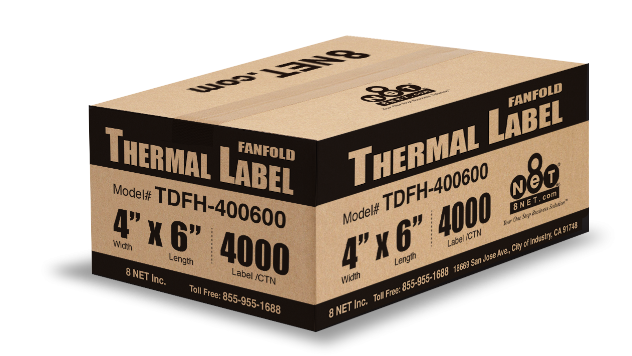 Fanfolded Direct Thermal Labels