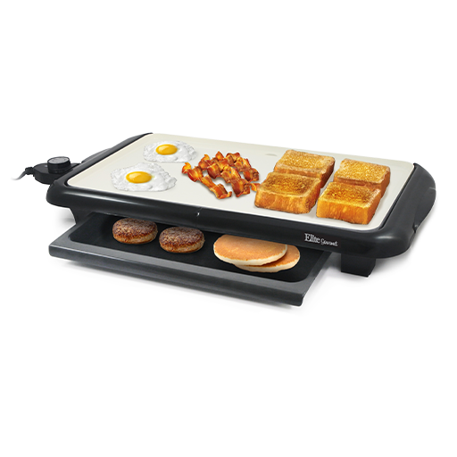 Electric Grill with Warming Tray