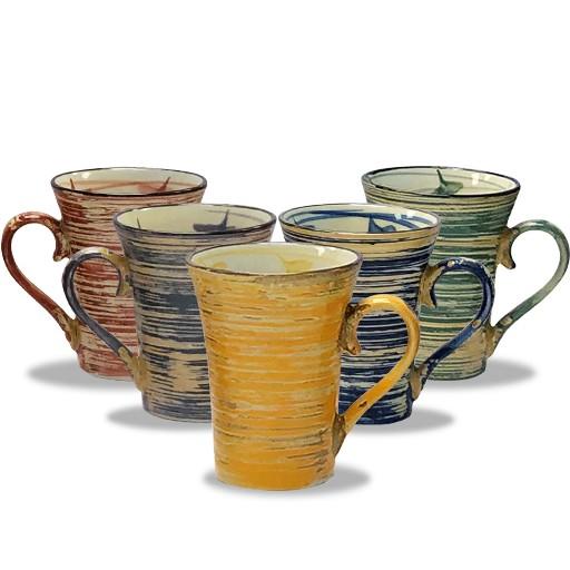 Hand-Painted Mug Set