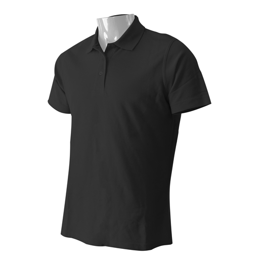 Black Premium Fit Knit Sport Polo Shirt