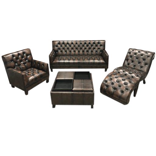 5-Pcs Leather Sofa Set