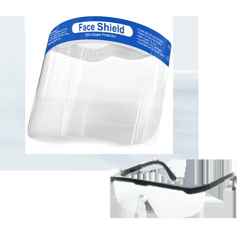 Glass &  Face Shields