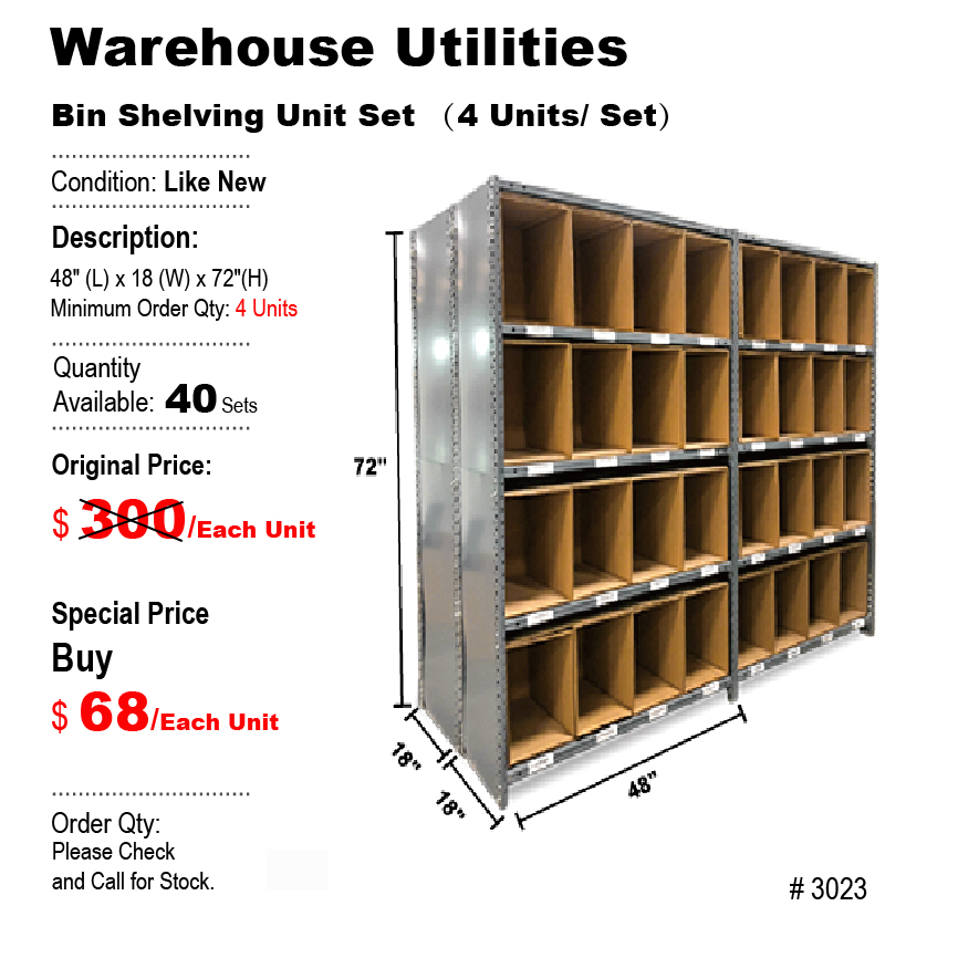 Bin Shelving Unit Set