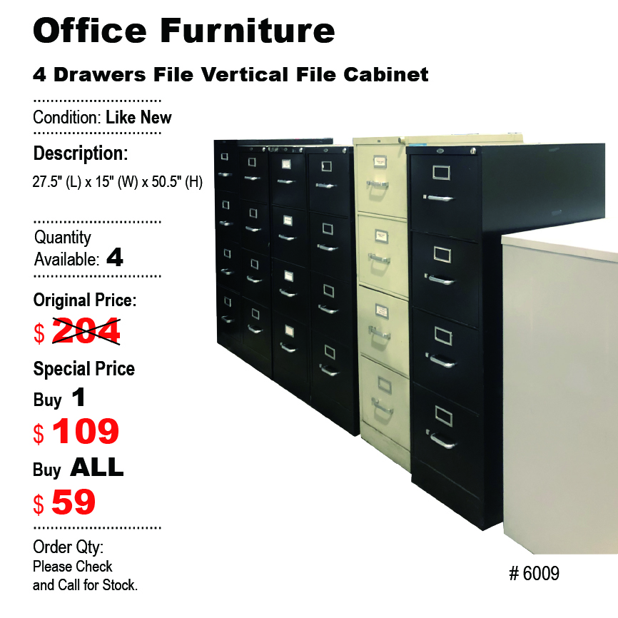 4 Drawers Vertical File Cabinet