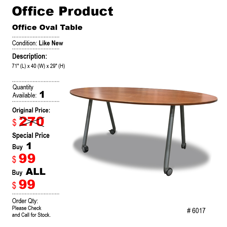 Office Oval Table