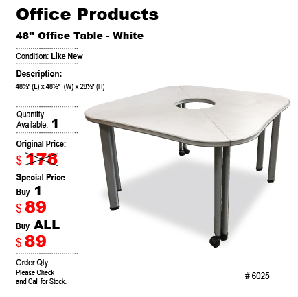 Office Table - White