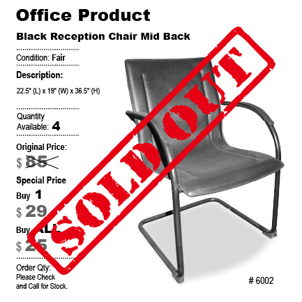 Black Reception Chair