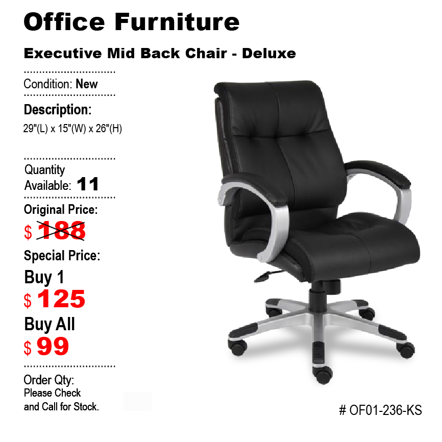 Executive Mid Back Chair Deluxe