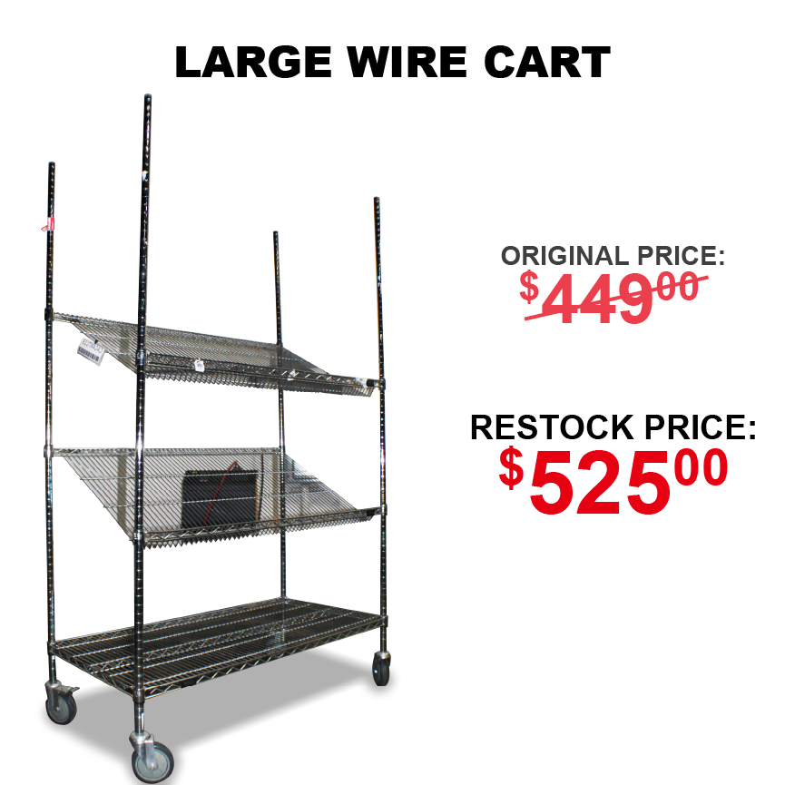 wire sheving cart