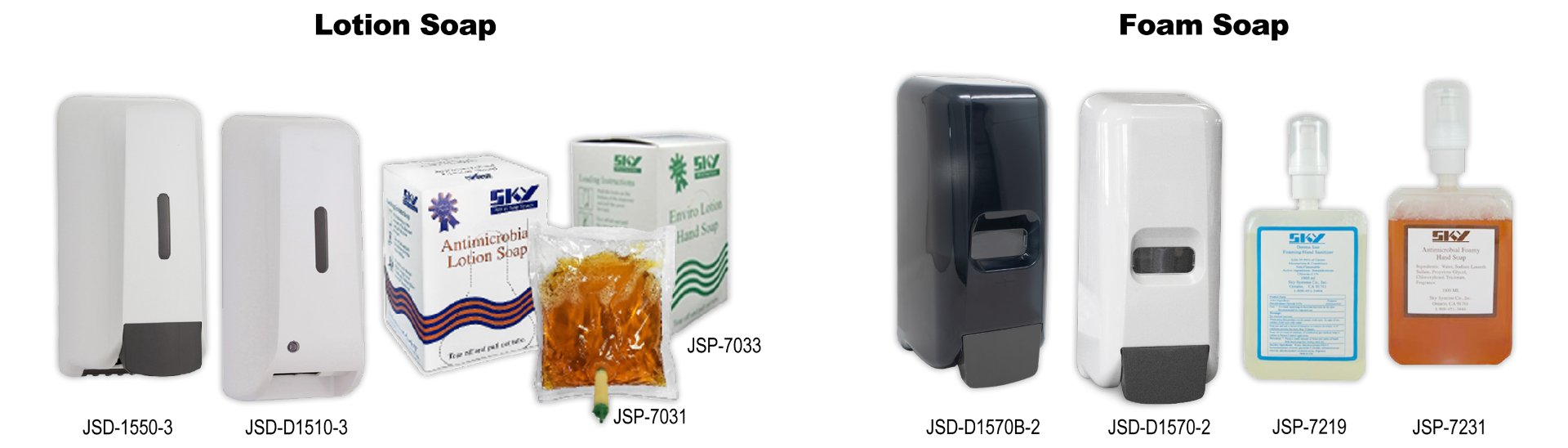 Lotion Soap & Dispensers
